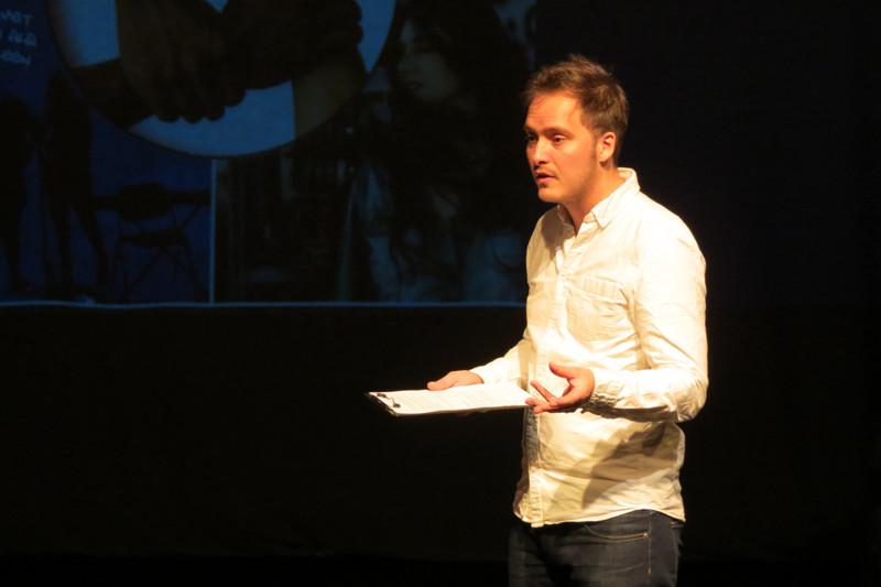 Regisseur Daan Bosch in gesprek met het publiek