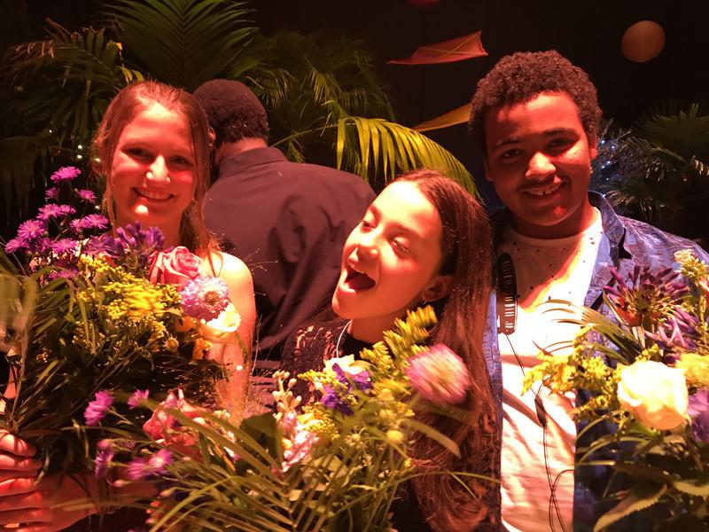 Emmanuel, Lara en Malou in Theater de Meervaart
